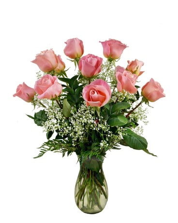 Premium Quality Pink Roses Flower Arrangement