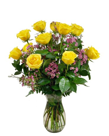 Premium Quality Yellow Roses Flower Arrangement
