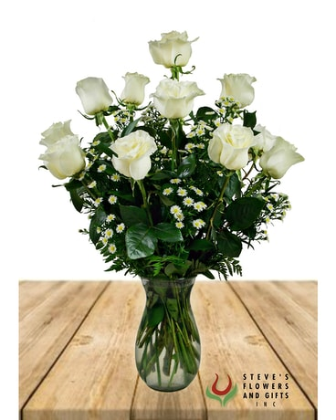 Premium Quality White Roses Flower Arrangement