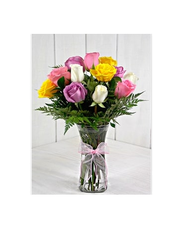 Medium Stemmed Assorted Roses