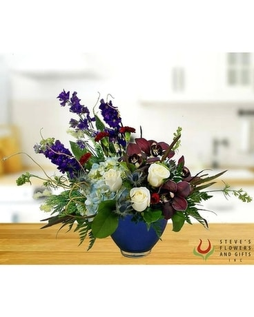 Blue Without You Flower Arrangement