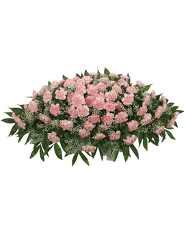 Timeless Traditions Pink Carnation Casket Spray Flower Arrangement