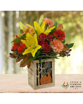 Harvest Time Flower Arrangement