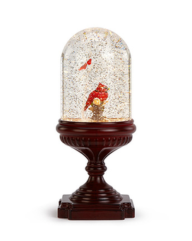 Motorized Cardinal Snow Globe