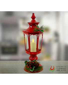 Red Lamp with Flickering Candle Gifts