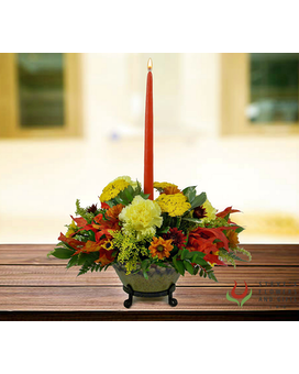Golden Fireside Centerpiece Centerpiece