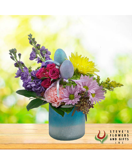 Sweet Egg-Scape Flower Arrangement