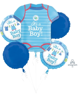 Shower With Love Baby Boy Mylar Balloon Bouquet Gifts