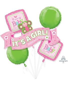 Welcome Little Girl Mylar Balloon Bouquet Gifts