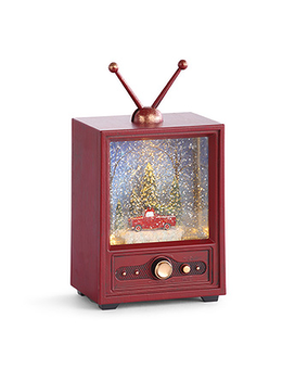 Musical, Light-Up, Television Snow Globe