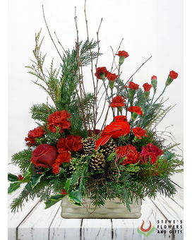 Holiday In Your Heart Flower Arrangement