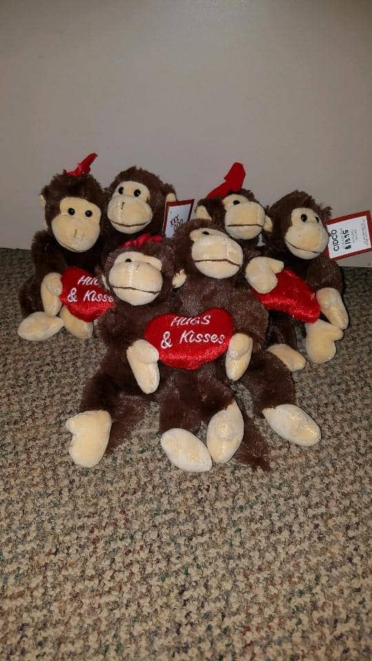Hugs & Kisses Monkey