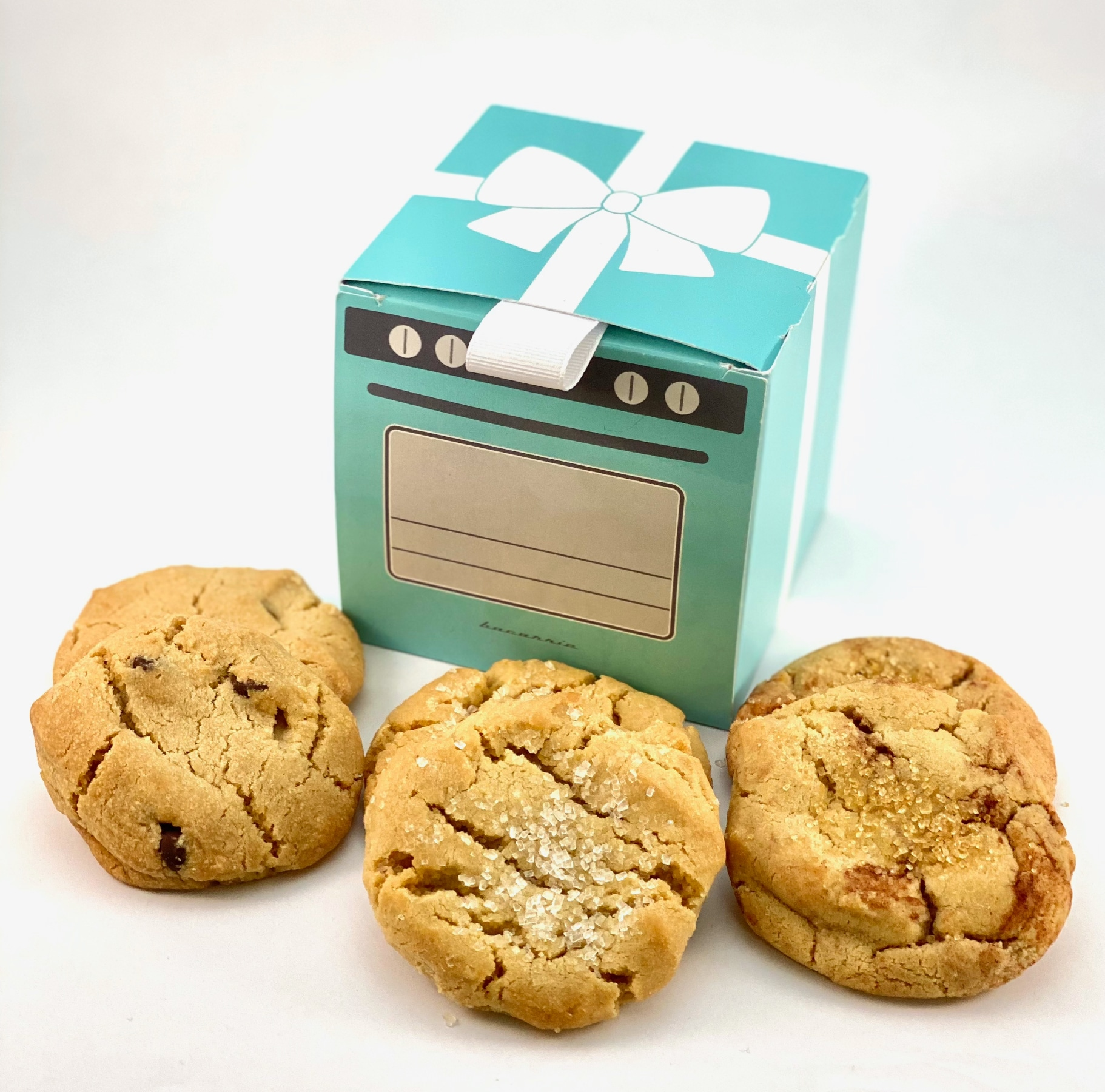 Six Artisanal Cookies in Tiffany Blue Box