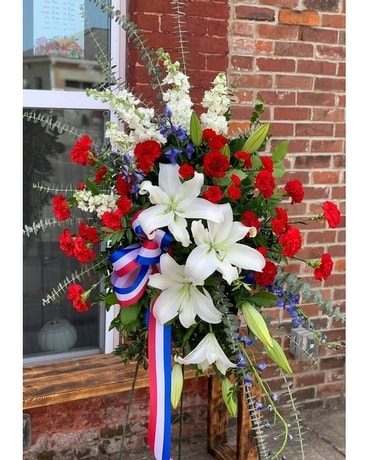 Red White Blue Sympathy Arrangement