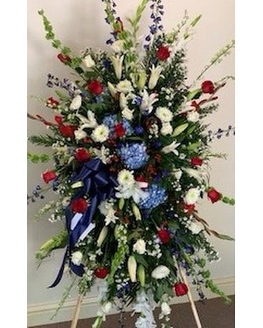 Legacy's Patriotic Reverance Flower Arrangement