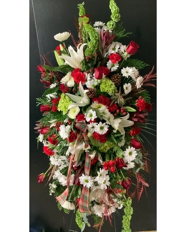 Legacy's Christmas Blessings standing spray Sympathy Arrangement