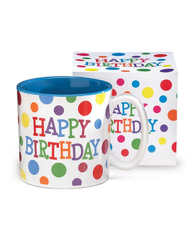 HAPPY BRIGHTS CERAMIC MUG W/ BOX Gift Basket