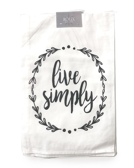 Live Simply Towel Gifts