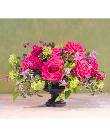 Hot Paris Black Urn Flower Arrangement
