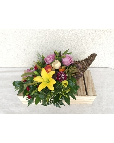 Bright Cornucpoia Flower Arrangement
