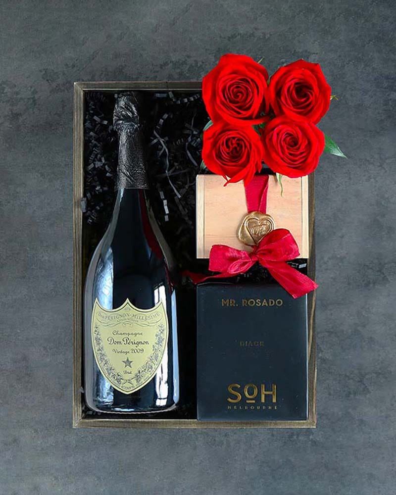 Quick View Champagne Candlelight Gift Basket