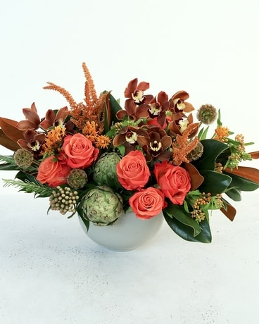 Copper Rose Flower Arrangement