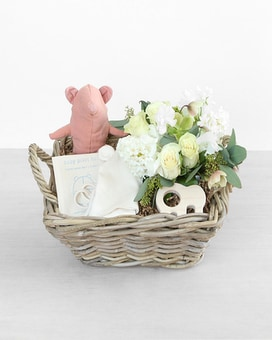 Blossoms & Baby Gift Basket