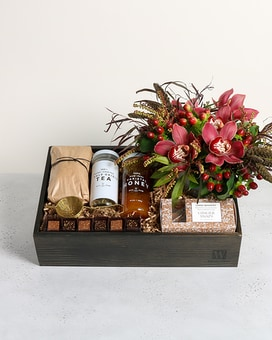 Quick view Blossoms u0026 Tea Gift Basket & Gourmet Gift Baskets | Local Delivery u0026 Nationwide Shipping ...