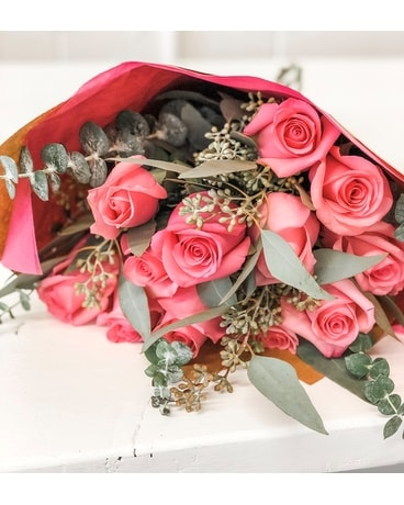 Pink Roses by the Dozen Bouquet