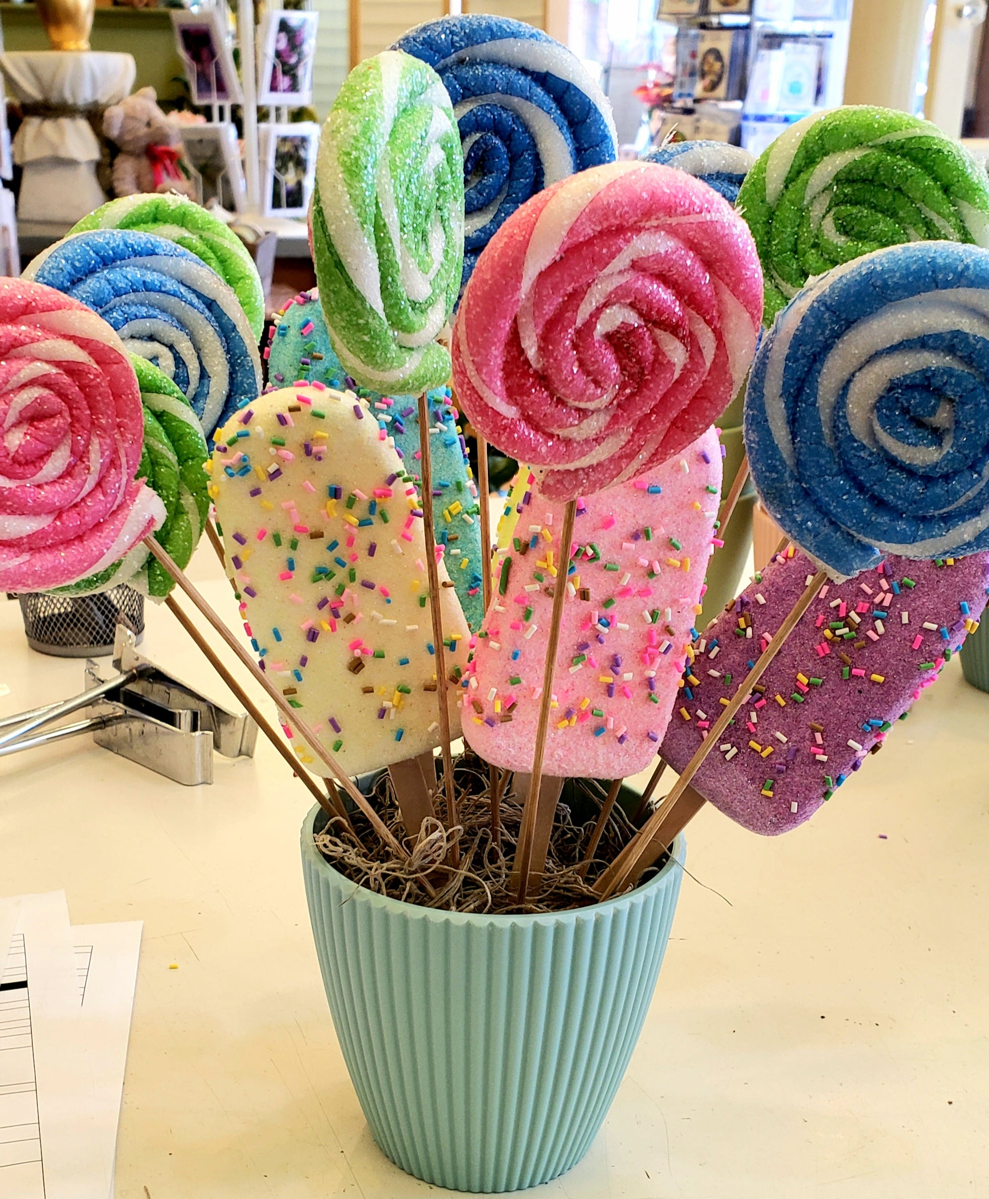 Decorative lollipops and Icecream Bars
