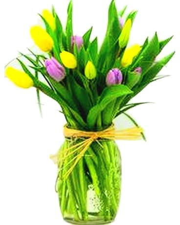 Simply Tulips Flower Arrangement