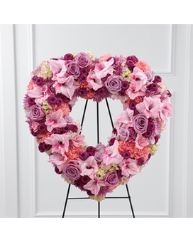 The FTD® Eternal Rest™ Standing Heart Flower Arrangement