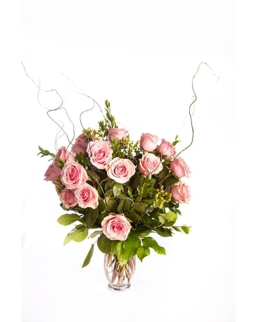 1 Dozen Long Stem Roses Arranged Flower Arrangement