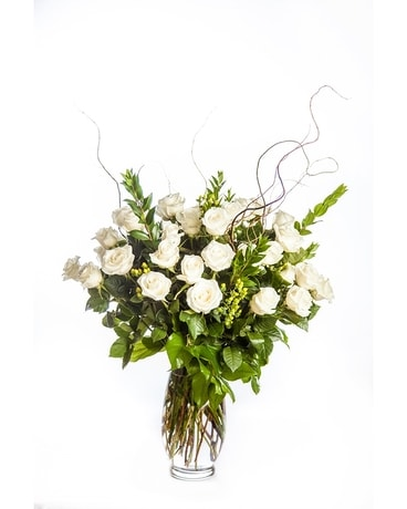 2 Dozen Long Stem Roses Arranged Flower Arrangement