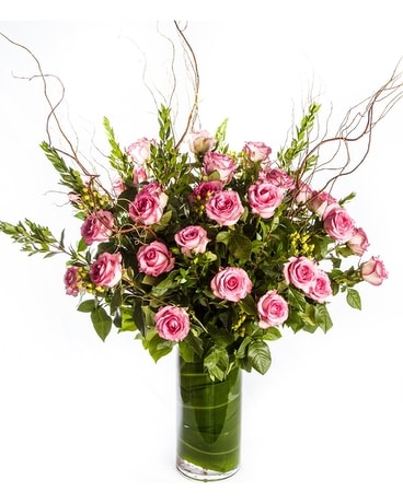 3 Dozen Long Stem Roses Arranged Flower Arrangement