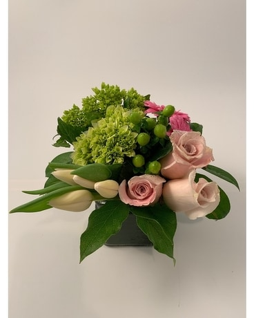 Urban Square Pastel Flower Arrangement