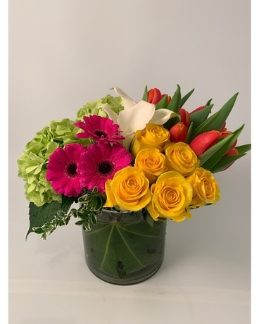 City Chic Bright Flower Arrangement
