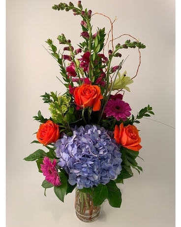 Classic Tall Bright Flower Arrangement