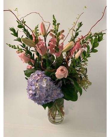 Classic Tall Pastel Flower Arrangement