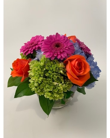 Classic Bubble Colorful Flower Arrangement