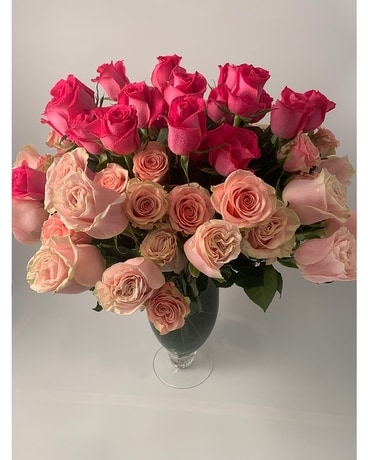 Luxury Ombre Rose Flower Arrangement