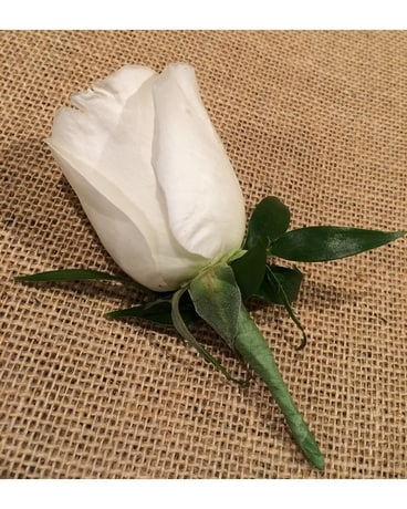 Single Rose Boutonniere Boutonniere
