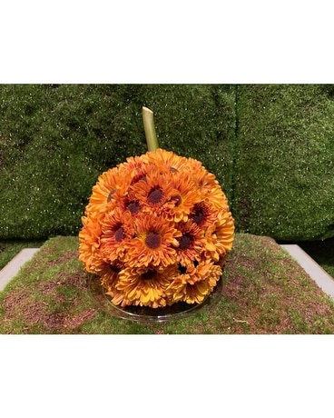 Thanksgiving Floral Pumpkin Centerpiece