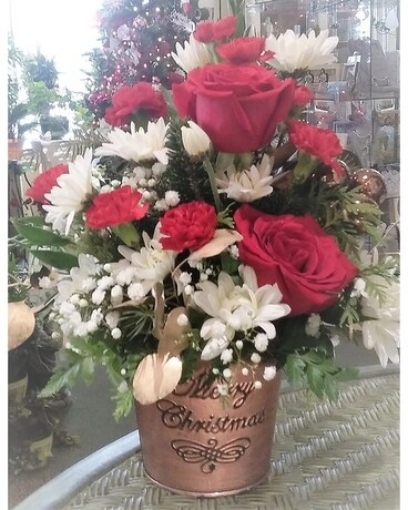 Christmas Traditions Flower Arrangement