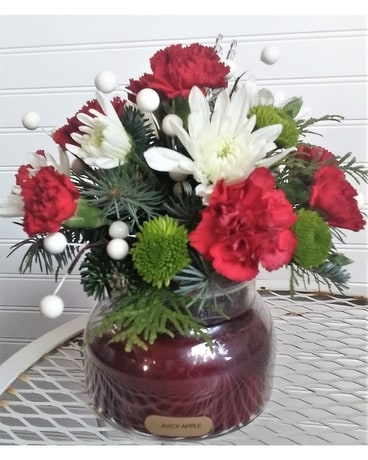 Holiday Glow Flower Arrangement