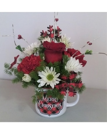Mug of Cheer Flower Arrangement
