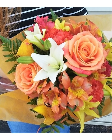 Stunning Orange Handtie Bouquet