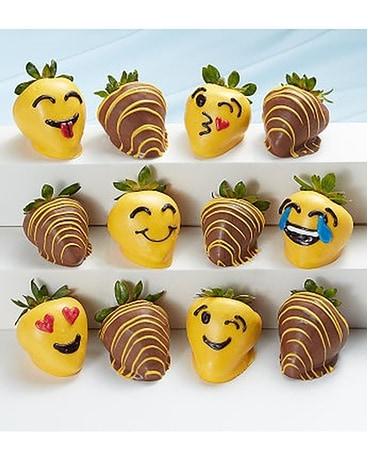 Full Dozen Emoticon Chocolate Covered Strawberries In Burton Mi Bentley Florist