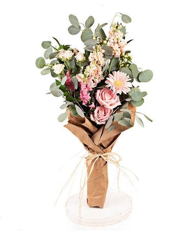 Romantic Hand-Tied Bouquet Flower Arrangement