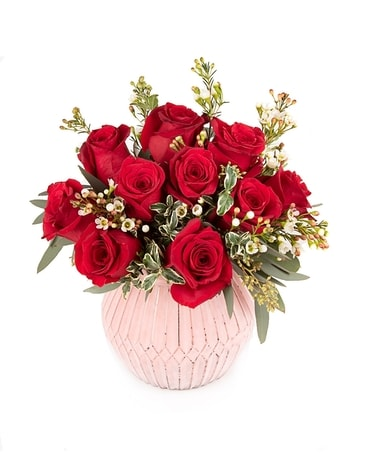 Love Forever Roses Flower Arrangement